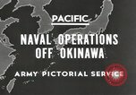 Image of United States Navy Bunker Hill cruiser Okinawa Ryukyu Islands, 1945, second 5 stock footage video 65675058493