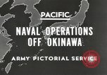 Image of United States Navy Bunker Hill cruiser Okinawa Ryukyu Islands, 1945, second 6 stock footage video 65675058493