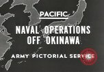 Image of United States Navy Bunker Hill cruiser Okinawa Ryukyu Islands, 1945, second 7 stock footage video 65675058493