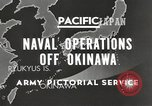 Image of United States Navy Bunker Hill cruiser Okinawa Ryukyu Islands, 1945, second 8 stock footage video 65675058493