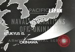 Image of United States Navy Bunker Hill cruiser Okinawa Ryukyu Islands, 1945, second 9 stock footage video 65675058493