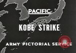 Image of drop bombs Kobe Japan, 1945, second 5 stock footage video 65675058494