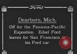 Image of Edsel Ford leaves Dearborn Michigan in Ford motorcar Dearborn Michigan USA, 1915, second 1 stock footage video 65675058505