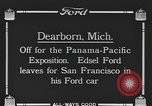 Image of Edsel Ford leaves Dearborn Michigan in Ford motorcar Dearborn Michigan USA, 1915, second 2 stock footage video 65675058505