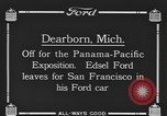 Image of Edsel Ford leaves Dearborn Michigan in Ford motorcar Dearborn Michigan USA, 1915, second 4 stock footage video 65675058505