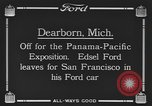 Image of Edsel Ford leaves Dearborn Michigan in Ford motorcar Dearborn Michigan USA, 1915, second 8 stock footage video 65675058505