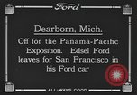 Image of Edsel Ford leaves Dearborn Michigan in Ford motorcar Dearborn Michigan USA, 1915, second 9 stock footage video 65675058505