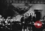 Image of Declaration of Independence painting by John Trumbull United States USA, 1916, second 9 stock footage video 65675058508