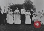Image of Group at an Ice cream social in the U.S.A.  United States USA, 1916, second 10 stock footage video 65675058509