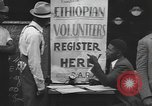 Image of Ethiopian volunteers New York United States USA, 1935, second 7 stock footage video 65675058523