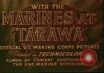 Image of United States 2nd Marine Division Tarawa Gilbert Islands, 1944, second 12 stock footage video 65675058541