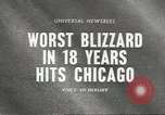 Image of Blizzard Chicago Illinois USA, 1967, second 1 stock footage video 65675058588