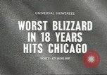Image of Blizzard Chicago Illinois USA, 1967, second 3 stock footage video 65675058588