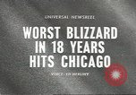 Image of Blizzard Chicago Illinois USA, 1967, second 4 stock footage video 65675058588