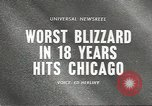 Image of Blizzard Chicago Illinois USA, 1967, second 5 stock footage video 65675058588