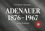 Image of Konrad Adenauer Washington DC USA, 1967, second 2 stock footage video 65675058599
