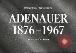 Image of Konrad Adenauer Washington DC USA, 1967, second 3 stock footage video 65675058599