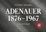 Image of Konrad Adenauer Washington DC USA, 1967, second 4 stock footage video 65675058599