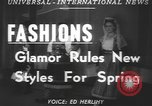 Image of fashion show Greece, 1950, second 2 stock footage video 65675058615