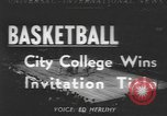Image of basketball game New York United States USA, 1950, second 1 stock footage video 65675058618