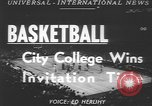 Image of basketball game New York United States USA, 1950, second 2 stock footage video 65675058618