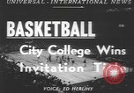 Image of basketball game New York United States USA, 1950, second 3 stock footage video 65675058618