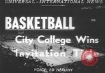 Image of basketball game New York United States USA, 1950, second 4 stock footage video 65675058618