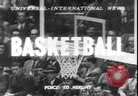 Image of basketball game between City College and BYU New York United States USA, 1950, second 1 stock footage video 65675058712