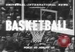 Image of basketball game between City College and BYU New York United States USA, 1950, second 2 stock footage video 65675058712