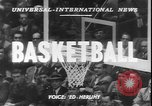 Image of basketball game between City College and BYU New York United States USA, 1950, second 4 stock footage video 65675058712