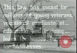 Image of war veterans United States USA, 1946, second 2 stock footage video 65675058766