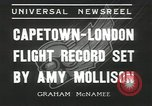 Image of Aviator Amy Mollison Croydon London England United Kingdom, 1936, second 5 stock footage video 65675058805