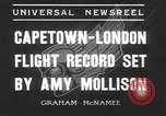 Image of Aviator Amy Mollison Croydon London England United Kingdom, 1936, second 6 stock footage video 65675058805