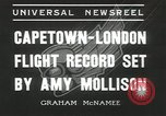 Image of Aviator Amy Mollison Croydon London England United Kingdom, 1936, second 7 stock footage video 65675058805