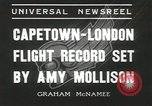 Image of Aviator Amy Mollison Croydon London England United Kingdom, 1936, second 11 stock footage video 65675058805