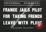 Image of pilot Drouillet Villacoublay France, 1936, second 1 stock footage video 65675058807