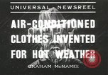 Image of air conditioned suit Gila Centre Arizona USA, 1936, second 1 stock footage video 65675058810