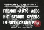 Image of Formula One Automobile Club's Grand Prix Montlhéry France, 1936, second 1 stock footage video 65675058812