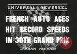 Image of Formula One Automobile Club's Grand Prix Montlhéry France, 1936, second 3 stock footage video 65675058812
