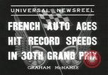 Image of Formula One Automobile Club's Grand Prix Montlhéry France, 1936, second 6 stock footage video 65675058812