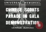 Image of Chinese scouts Shanghai China, 1936, second 1 stock footage video 65675058816