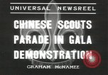 Image of Chinese scouts Shanghai China, 1936, second 3 stock footage video 65675058816