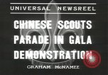 Image of Chinese scouts Shanghai China, 1936, second 4 stock footage video 65675058816