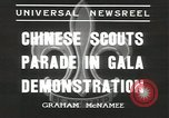 Image of Chinese scouts Shanghai China, 1936, second 5 stock footage video 65675058816
