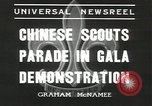 Image of Chinese scouts Shanghai China, 1936, second 7 stock footage video 65675058816