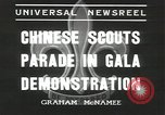 Image of Chinese scouts Shanghai China, 1936, second 8 stock footage video 65675058816