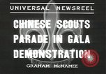 Image of Chinese scouts Shanghai China, 1936, second 9 stock footage video 65675058816