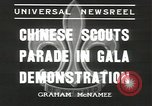 Image of Chinese scouts Shanghai China, 1936, second 10 stock footage video 65675058816