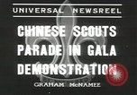 Image of Chinese scouts Shanghai China, 1936, second 11 stock footage video 65675058816