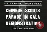 Image of Chinese scouts Shanghai China, 1936, second 12 stock footage video 65675058816